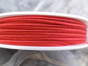 Galantéria - Šujtášová šnúrka 100% viskóza - 1m (Červená (A 7501)) - 9634076_