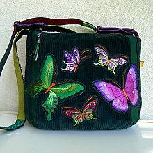 Kabelky - Kabela Motýle-fialovoružová rodinka :) - 9634567_
