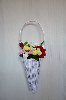 Košíky - Závesná dekorácia (Biela) - 9634849_