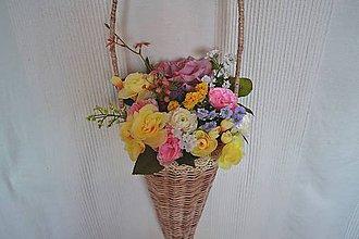 Košíky - Závesná dekorácia - 9634871_