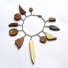 Náramky - Retiazkový náramok s drievkami - 9633154_