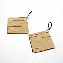 Náušnice - Z brezovej kôry - 9633222_