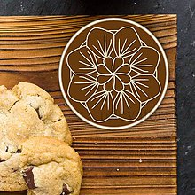 Dekorácie - Ozdoba na koláčik mandala Chocolate art - 9634959_