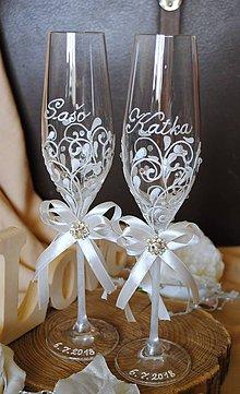 Nádoby - Svadobné poháre - 9636849_