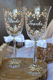 Nádoby - Svadobné poháre - 9638105_