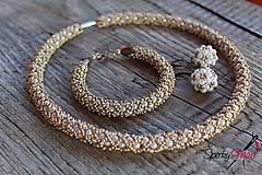Sady šperkov - súprava bielo-medená - 9636841_