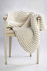 """Úžitkový textil - Merino deka """"Lala"""" (Biela) - 9636708_"""