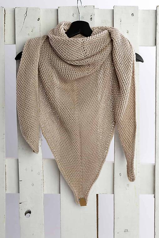 1bdf6d10aa Pletená bavlnená šatka (200x165x165cm - Béžová)   LAF - SAShE.sk ...