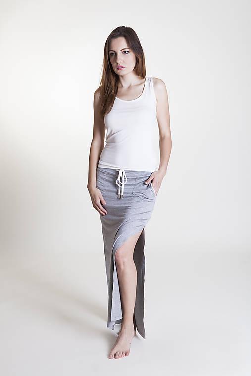 Sukne - Športová sukňa sivá - 9637012_