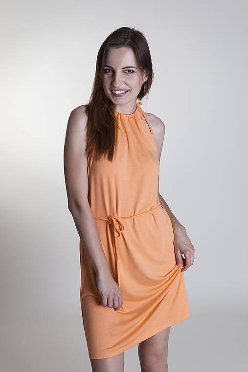 Letné šaty krátke broskyňové   Rencissa - SAShE.sk - Handmade Šaty c30912c8010