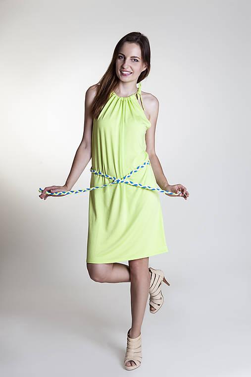 Letné šaty krátke kiwi   Rencissa - SAShE.sk - Handmade Šaty c771eec13b3