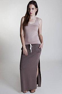 Sukne - Športová sukňa tmavohnedá - 9637045_