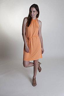 Šaty - Letné šaty krátke broskyňové - 9637148_