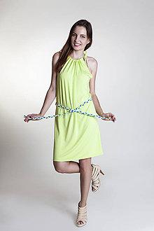 Šaty - Letné šaty krátke kiwi - 9637170_