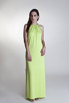 Šaty - Letné šaty dlhé kiwi - 9637264_