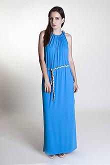 Šaty - Letné šaty dlhé tyrkysové - 9637288_