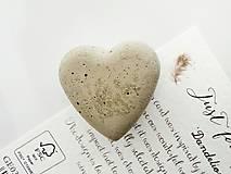 Magnetky - betónová magnetka We Heart It - 9639459_