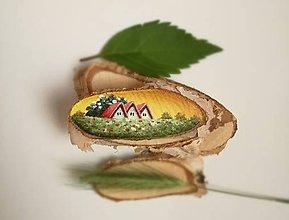 Obrazy - Inšpirované prírodou - tri domčeky - 9638127_