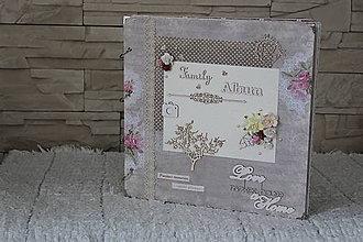 Papiernictvo - Vintage  MAXI rodinný fotoalbum - 9636422_