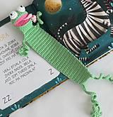 Hračky - Háčkovaná záložka žabka - 9637133_