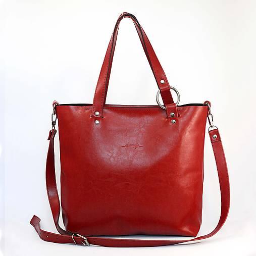 Kožená kabelka Bela (červená)   Ammyla - SAShE.sk - Handmade Kabelky be18883b71b