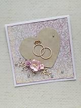 Papiernictvo - Svadobná pohľadnica - 9637374_
