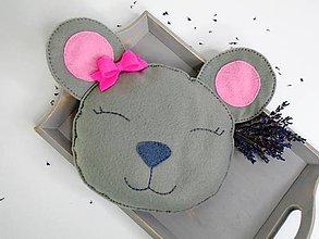 Textil - Hrejivý vankúš (Myšička) - 9637878_