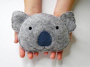 Textil - Mini hrejivý vankúš (Koala) - 9638020_
