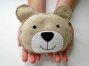 Textil - Mini hrejivý vankúš (Medvedík) - 9638051_