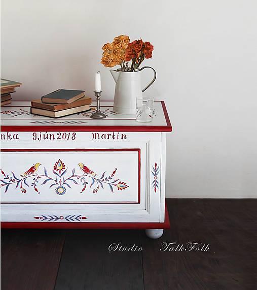 Maľovaná svadobná truhlica  (rôzne veľkosti)