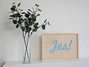 Dekorácie - drevený plagát JES! - 9638783_