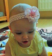 Ozdoby do vlasov - čelenka pre bábätko - 9637189_