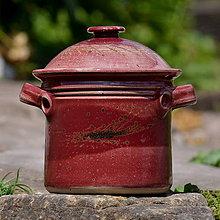 Nádoby - Hrnec na nakládání a pečení 2,5l - v kraji vína - 9639410_
