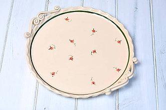 Nádoby - Romantický pekáč na pizzu, podnos - 9636442_