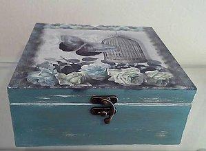Krabičky - krabička ruže s motýľom - 9639407_