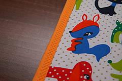 Úžitkový textil - Detské prestieranie- FAREBNÉ ZVIERATKÁ I. - 9636834_