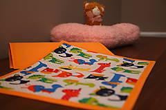 Úžitkový textil - Detské prestieranie- FAREBNÉ ZVIERATKÁ I. - 9636835_