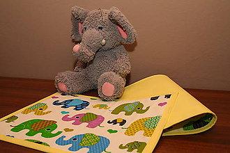 Úžitkový textil - Detské prestieranie - SLONÍKY SLONÍKOVÉ I. - 9636785_