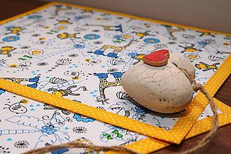 Úžitkový textil - Detské prestieranie-ŽIRAFY A OPICE - 9636873_
