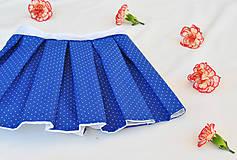 Detské oblečenie - Kráľovská modrá bodkovaná suknička - 9636686_
