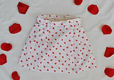 Detské oblečenie - Červeno-ľudová suknička - 9636778_