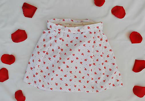 Červeno-ľudová suknička