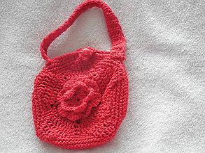 Detské tašky - Háčkovaná kabelka pre dievčatko - 9638792_