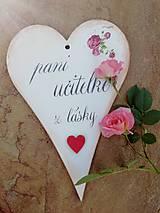Tabuľky - Pani učiteľke z lásky - 9639538_