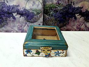 Krabičky - Ľudová vintage krabička - 9639073_