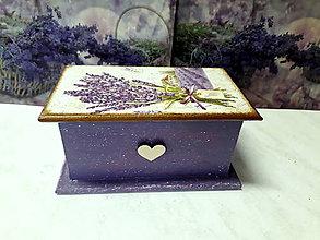 Krabičky - Levanduľová šperkovnica - 9639107_