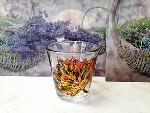 Svietidlá a sviečky - Svietnik jesenný list - 9639583_