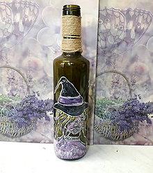 Nádoby - Dekoratívna fľaša Halloween - 9639598_