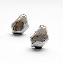 Náušnice - Náušnice sivé Krystalix / perleťový vzhľad - 9637891_