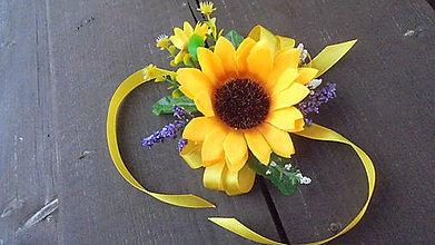 Náramky - Svadobný náramok-slnečnica - 9639427_